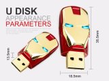 El metal de 32GB Pendrive de 16GB de memoria USB Flash Drive USB Iron Man