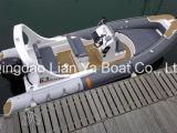 6.2mのガラス繊維の堅く膨脹可能なボートの漁船のFibergalssの漁船