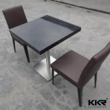Pierre artificielle de l'acrylique Surface solide Table à manger en marbre blanc