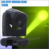 LED de 150 vatios Mini moviendo la cabeza de la luz de la etapa de gobos Spot