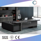 Eindeutiger Büro-Schreibtisch-Chef-Tisch des Entwurfs-1.8m mit Credenza (CAS-ED31405)