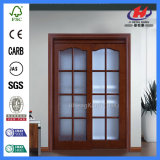 Более белым интерьер отлитый в форму праймером сползая деревянную стеклянную дверь (JHK-G19)