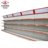 Venta caliente supermercado doble piso lateral posterior estante en China