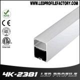 Profil d'aluminium d'extrusion de barre d'éclairage LED de la Manche de l'aluminium 4238