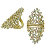 Оптовые кольца способа стерлингового серебра подарка 925 рождества хорошего качества (R10979)