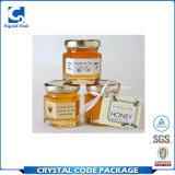 Kundenspezifischer selbstklebender eingemachter Honig-Flaschen-Aufkleber-Kennsatz