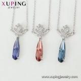 목걸이 00565 Xuping 크라운 목걸이 부속품 여자 Swarovski에서 미국 다이아몬드 보석 인도 결정