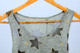 Nuova parte superiore di serbatoio americana delle ragazze della maglia del reticolo di stella di stile