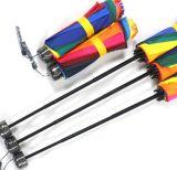 نمط [بورتبل] ترويجيّ [أدفرستينغ] [أم] ثلاثة ثني قوس قزح مظلة لأنّ سيدات