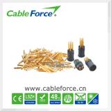 Connecteur circulaire de connecteur femelle du panneau IEC61076-2-101 de M12 5pin avec des contacts de carte pour l'automatisation d'usine