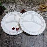 Placas biodegradáveis maiorias baratas descartáveis das placas de jantar dos utensílios de mesa do Sugarcane