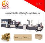 Carpeta de cartón corrugado Gluer automática y empaquetado de la máquina (JHXDB-2800)