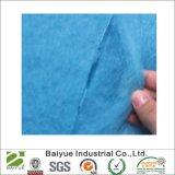Filtre en polyester bleu collé de pulvérisation en rouleaux