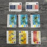 Novíssimo jogo de cores de placas educativas cartões