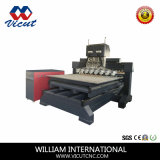 Tabela de profissionais que se deslocam televisão e máquina de gravura de madeira rotativo VCT-TM2515fr-8h