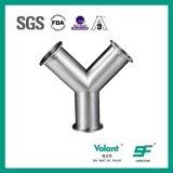 Tipo premuto sanitario T dell'acciaio inossidabile Y dell'accessorio per tubi