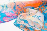 Seide der Form-lange Dame-Silk Chiffon Custom Print
