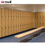 La seguridad de la Junta de HPL 6 puertas armario Armario de almacenamiento personal