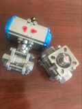 preço de fábrica actuador pneumático 3PC a Válvula de Esfera