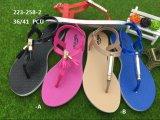 새로운과 Pcu Sandal PVC Blowing 형식 숙녀 단화