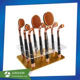 Brosse à dents en acrylique ovale de support de brosse de maquillage/ affichage cosmétiques la béquille de remisage