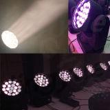 19X15W RGBW LEDのズームレンズ移動ヘッドDMX照明