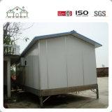 Pequeño económico prefabricados pequeña casa con 1 dormitorio y el chasis
