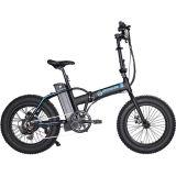 Bicicleta eléctrica plegable con el motor trasero a campo través los 30km del neumático 500W