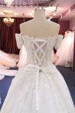 من الكتف قصيرة كم [أبّليقو] ينظم ثياب زفافيّ
