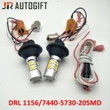 Auto populares DRL S25/T20 20 5730 SMD Aluguer de Luz da Lanterna Direcional