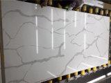 Commercio all'ingrosso popolare della pietra del quarzo di Calacatta per i controsoffitti della stanza da bagno della cucina