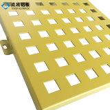 Panneau perforé d'aluminium matériel de décoration de construction