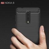 Противоударное почищенное щеткой аргументы за Nokia 8 виолончели телефона волокна углерода