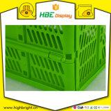 Cassa pieghevole di plastica conveniente del cestino di acquisto
