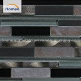 Nuevo diseño de baño estilo Europen mosaico de vidrio aluminio color gris oscuro