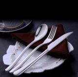 Reeks van het Tafelgereedschap van het Huwelijk van de Spiegel van Flatasy de Zwarte Gehamerde, de Dienst van 5 Stuk voor 1, Bestek voor het Hotel van het Restaurant van de Keuken van het Huis