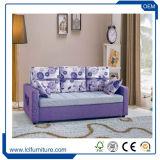 Кровать софы живущий пены чехла из материи Seater комнаты 3 складывая с рукоятками
