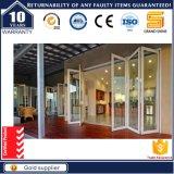 Prix en aluminium en verre de film publicitaire de porte de pliage d'entrée