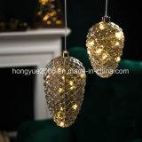 LED de Pinecone batería de la luz de la cadena para las vacaciones de Navidad decoración de la luz de la bola