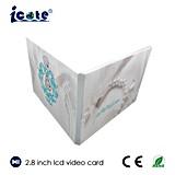 Tarjetas video del LCD de 2.8 pulgadas usando para el saludo de la boda del asunto que hace publicidad de cumpleaños