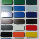 Papel de aluminio aplicado con brocha azul