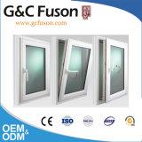 Finestra di alluminio isolata termica/finestra di apertura di alluminio con il doppio lustrato