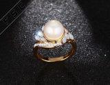 형식 단순한 설계 지르콘 다이아몬드 교전 결혼식 진주 반지