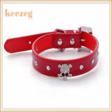 Keezeg 질 가죽 두개골 개 애완 동물 고리 또는 고양이 고리 또는 가죽끈 또는 하네스 (KC0039)