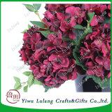 Borgoña jardín las flores de seda artificial de Hortensias