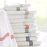品質のホテルの刺繍の寝具の一定の白い綿のベッドセット