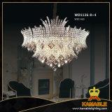 Erstklassiges leuchtendes Messingkristallhotel-hängende Lampen
