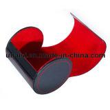 Regalo de Navidad personalizadas imitación de cuero caja arco corbata transportista