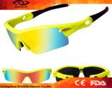 Het Cirkelen van de Lenzen van PC van Hotsale de UV Materiële Berijdende Zonnebril van de Sporten van de Zonnebril Stijl Gemerkte