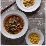 piatto di pranzo del piatto di minestra di Cina di osso di stampa di marchio dell'azienda 8 ' 10 '